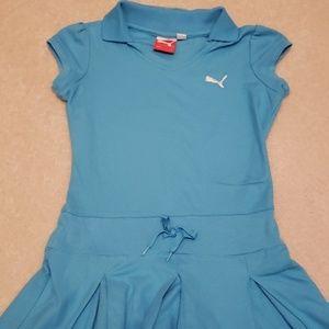 Blue girls tennis dress